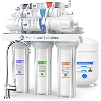 NSF Certified 75 Gallon Per Day White Sink pH+ Alkaline Remineralizing RO Filter /& Softener System Ukoke RO75G 6 Stages Reverse Osmosis Water Filtration