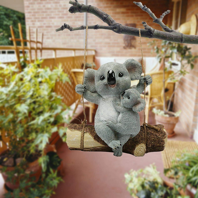 Garden Animal Parent Child Max Award 42% OFF Climbing Rope Art Statue for