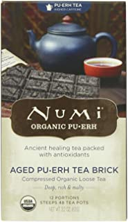 Numi Organic Tea Aged Pu-erh, 2.2 Ounce (Pack of 1) Brick Black Tea