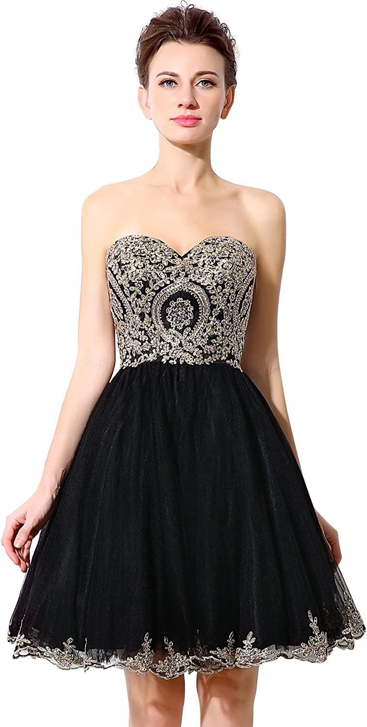 Belle House Women's Short Homecoming Dresses Halter Neck Appliques Beaded Prom Party Gowns