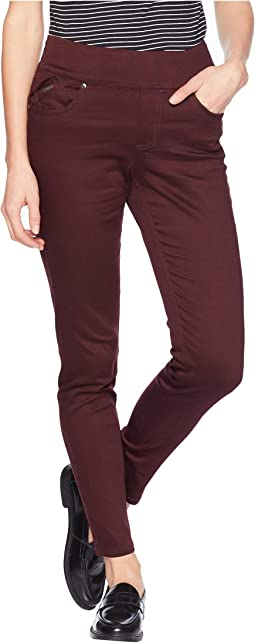 D-Lux Denim Pull-On Slim Ankle in Burgundy