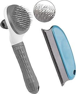 DELFINO Cat Brush, Dog Brush, Self-Cleaning Brush, Cat Brush Dog Brush for Shedding and Grooming with Long or Short Hair, ...