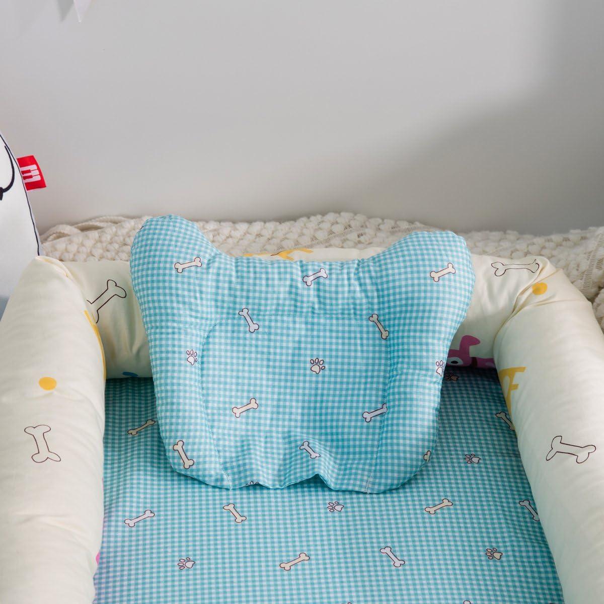 Nid Cocon Nid d'Ange Réducteur de Lit pour Bébé Coton Amovible Avec Oreiller (Chiots) Chiots