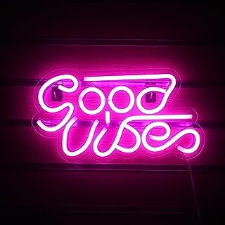 Good Vibes Neon Sign Lights Signs Lights with USB Decor for Room Bedroom Bar Restaurant Game Room Christmas Valentine's Da...