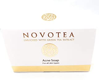 Novotea Dead Sea Green Tea and Jasmine Acne Soap Bar Natural & Organic Ingredients. With Activated Charcoal & Therapeutic Grade Essential Oils. Face Soap or Body Soap. For Men, Women & Teens. 3.5 oz