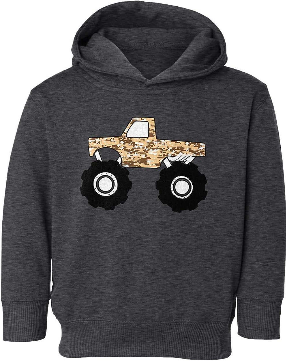 SpiritForged Apparel Desert Camoflauge Monster Truck Toddler Hoodie