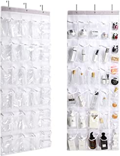 36 Clear Pockets - 2 Pack Over The Door Hanging Shoe Organizer, Closet Door Shoe Rack Holder, Storage and Organization for...