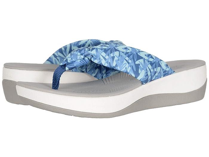 Clarks  Arla Glison (Blue/Mint Floral Textile) Womens Sandals