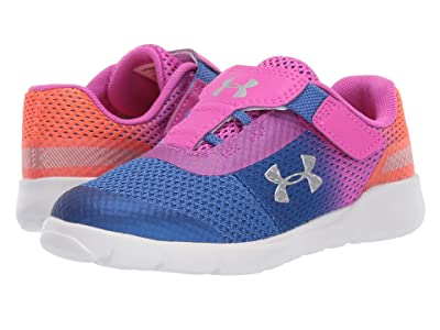 Under Armour Kids UA Inf Surge Running (Toddler) (Tempest/Peach Plasma/Metallic Silver) Girls Shoes