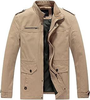 Mens Cotton Jacket & Winter Coat Military Style Multi Pockets Chaqueta Hombre
