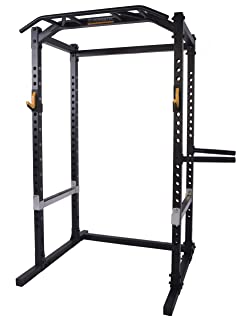 Powertec Fitness WB-PR18-B Power Rack Black Exercise Power Cages, Black