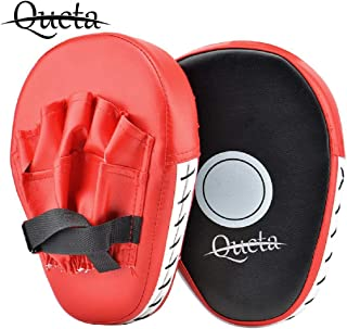 Queta 1 par Almohadillas de Boxeo Objetivos a Mano, Paos de Boxeo para Kick Boxing Muay Thai MMA-Almohadillas Entrenamiento - Manoplas de Boxeo