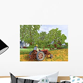 Wallmonkeys Farmall C Cultivator Wall Decal Peel and Stick Graphic WM216180 (18 in W x 14 in H)