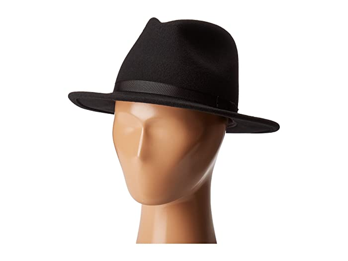 Country Gentleman Wilton Wool Fedora Hat (Black) Caps