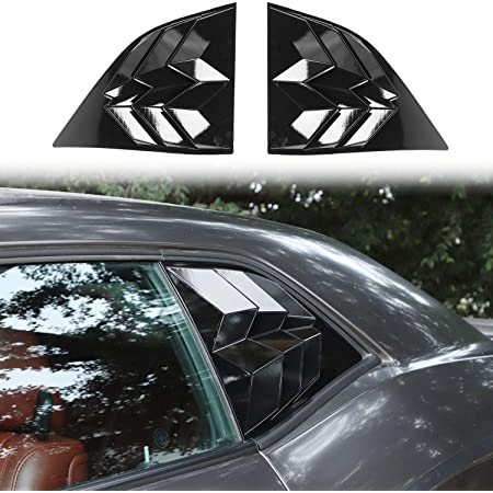 ABS Window Visor Cover E-cowlboy for 2008-2019 Dodge Challenger Side Window Scoop Louvers Sun Rain Shade Vent Matte Black