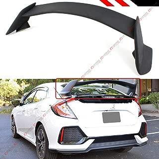 Cuztom Tuning Fits for 2016-2019 Honda Civic FK4 FK7 5 Door Hatchback Matt Black FK8 Type R 5 Pieces Style Trunk Spoiler Wing