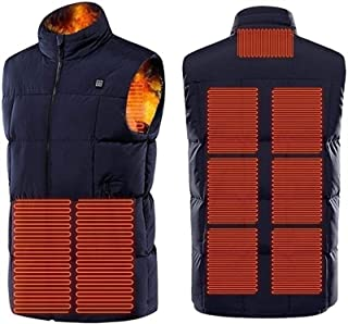 Electric Heated Vest for Man, Electric Heated Vest with 3 Temperature 9 Heating Zones Heat Jacket for Outdoor Camping Skii...