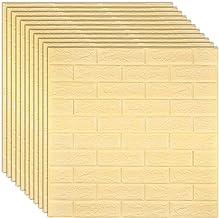 DIY-muurstickers, 3D-baksteenbehang, 3D-kunst zelfklevende imitatie-bakstenen muurstickers, 70X77Cm / 27,5X30,3 inch, gebr...