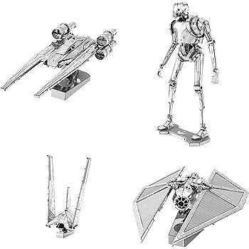 Metal Earth 3D Model Kits Star Wars Set of 4 Snowspeeder Slave 1 Imperial Shuttle AT-ST Fascinations SG/_B0182RWAVO/_US