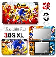 Sonic Boom Fire and Ice Hedgehog Skin Sticker Decal Cover for Original Nintendo 3DS XL
