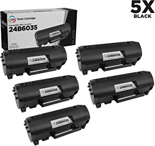 LD Compatible Toner Cartridge Replacement for Lexmark M1145 24B6035 (Black, 5-Pack)