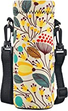 Water Bottle Sling Case Bag Carrier Holder - 16.9oz 24oz 34oz Neoprene Water Bottle Sleeve Cooler Cover Pouch with Adjusta...