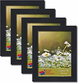 PictureFrameFactoryOutlet 11 by 14-inch Picture Frame 4-Piece Set, Smooth Finish, 1.25 Inch Wide, Black