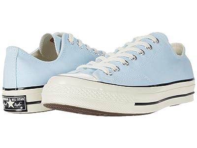 Converse Chuck 70 Vintage Canvas Ox (Agate Blue/Black/Egret) Shoes