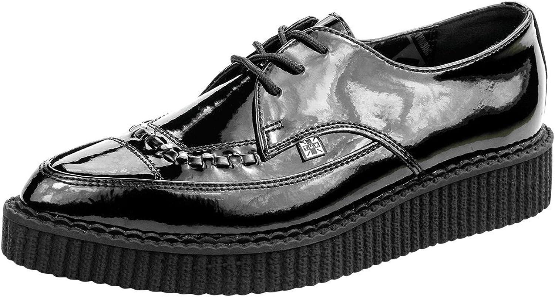T.U.K. A8832 Point Tuk svart läder Classic Patent Patent Patent Lace Up Jam skor  online outlet försäljning