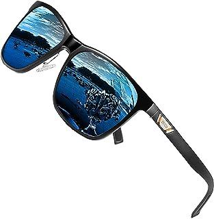 DUCO Occhiali da sole polarizzati Unisex Metal Quadrati con protezione UV400 per gli sport all'aria aperta 3029H