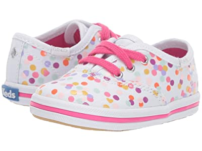 Keds x kate spade new york Kids Champion Seasonal Crib (Infant/Toddler) (Confetti Print) Girls Shoes