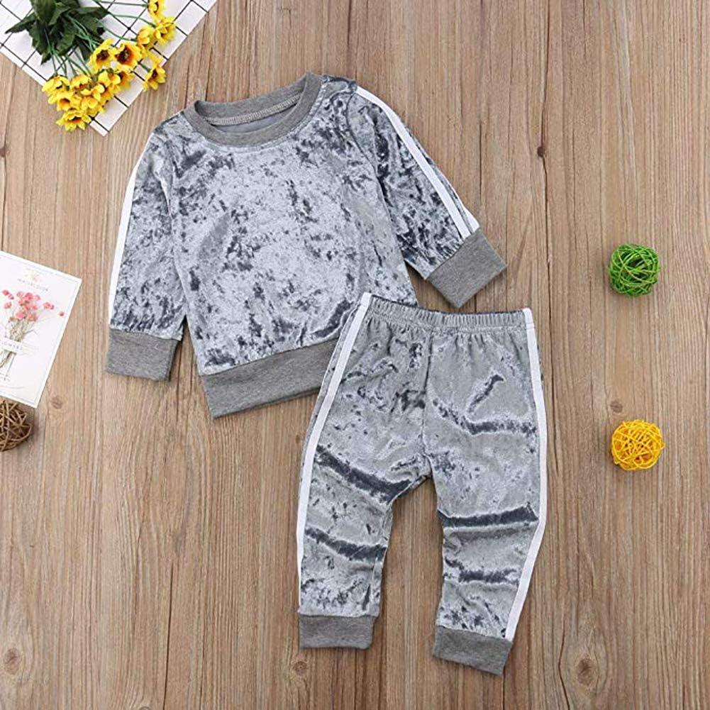 Pantaloni Carolilly 2 PCS Set Completo Sportivo Bambina Tuta Ragazza in Cotone Felpa Senza Cappuccio Stampa Leopardata
