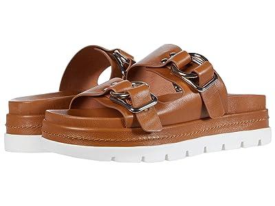 J/Slides Baha (Tan Leather) Women