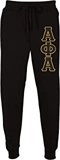 Fashion Greek Alpha Phi Alpha Embroidered Twill Letter Joggers