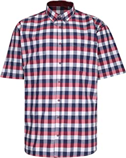 Kam Premium Large Check Shirt P642 Red 5XL