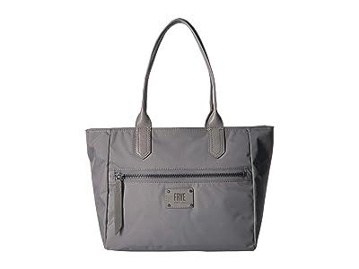 Frye Ivy Zip Tote (Matte Grey) Tote Handbags