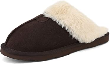 DREAM PAIRS Women's Cozy Indoor Outdoor Winter House Slippers