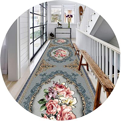 JIAJUAN Hallway Runner Rug Anti-Slip Stain Resistant Modern Home Long Floor Mat for Kitchen and Entryway (Color : A, Size : 0.8x1m)