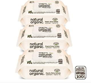 Natural Organic Original Embossing Wet Wipes CAP - Bundle, 100 count (Pack of 3)