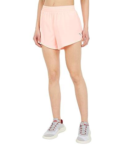PUMA 3 Run Favorite Woven Shorts (Elektro Peach) Women