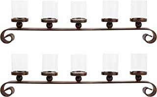 Elk Lighting 545191/S2 Candle Holder, Clear, Montana Rustic