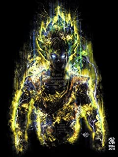 150 Million Power Warrior Painting Anime Giclèe Print