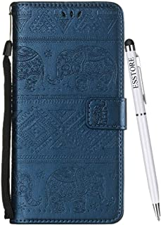 ESSTORE-AE Flip Cover Case for Samsung Galaxy S10e Leather + 1 x Dual-Use Stylus Pen   Foldable Stand   Wallet Card Slots, Blue