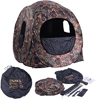 Blinds & Treestands Portable Hunting Blind Pop Up Ground Camo Weather Resistant Hunting Enclosure