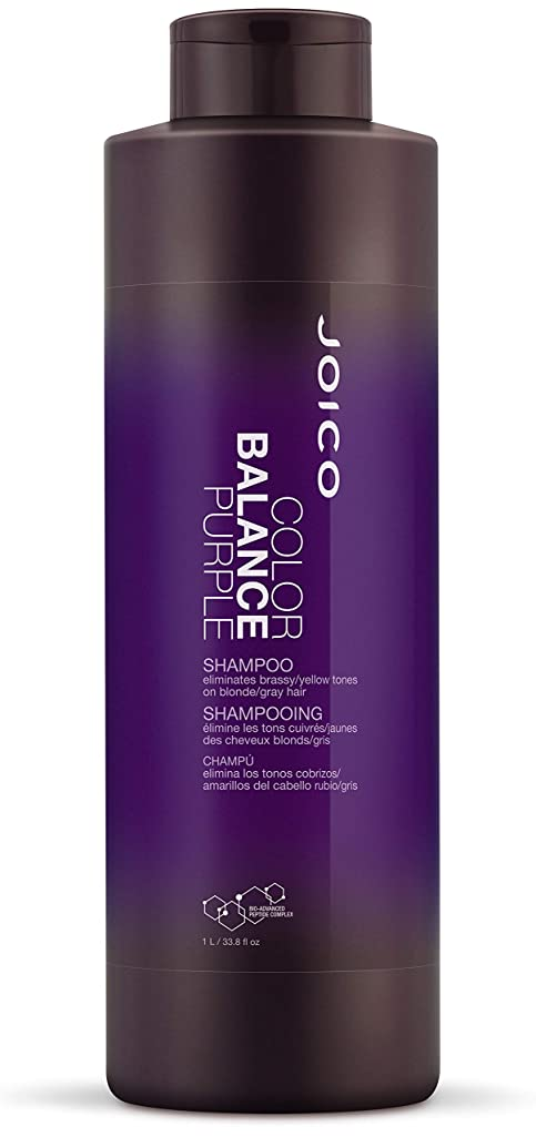 ゼロゼロ遅滞ジョイコ Color Balance Purple Shampoo (Eliminates Brassy/Yellow Tones on Blonde/Gray Hair) 1000ml/33.8oz並行輸入品