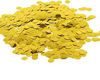 Battife Gold Metallic Glitter Foil Confetti 1.8oz - 0.6inch Round Table Confetti Dots for Wedding Celebrations Party Decorations - 50grams (Gold)