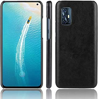 JINJIN for For Vivo V19 (Indonesia) Shockproof Litchi Texture PC + PU Case(Black) Cover (Color : Black)