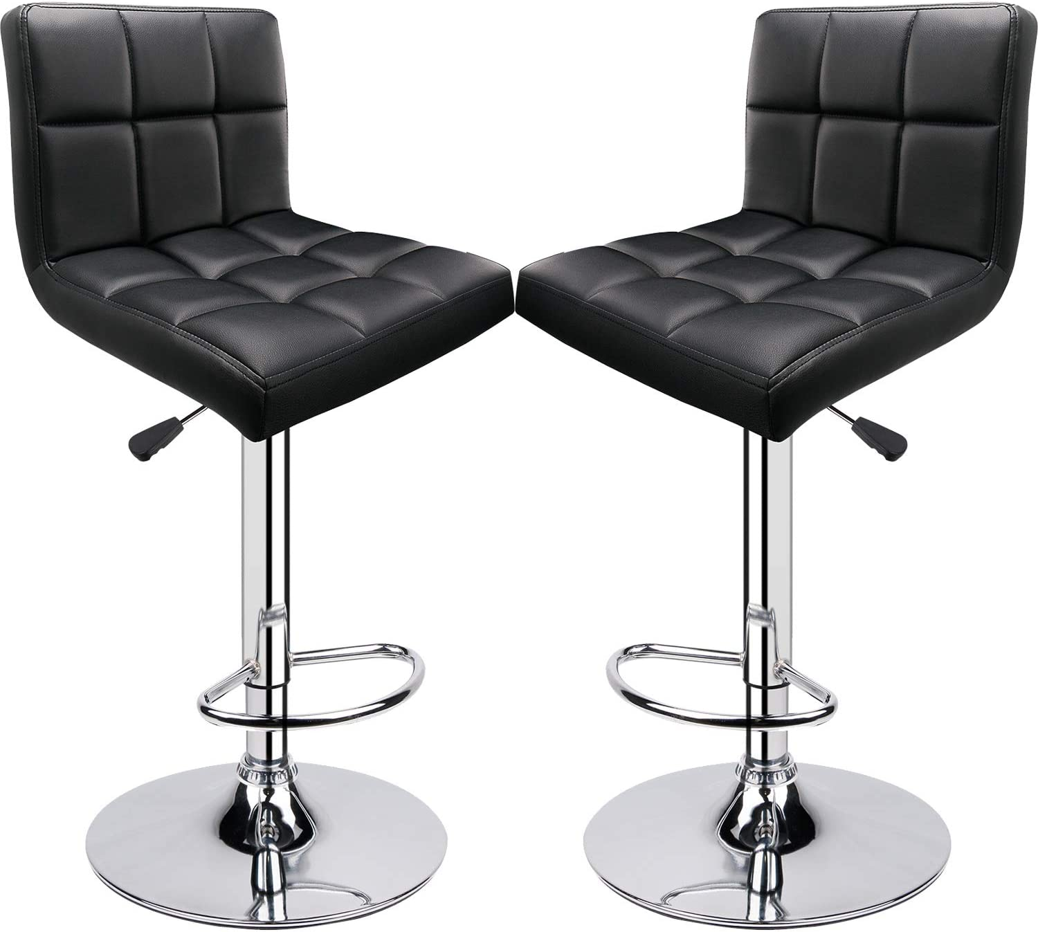 Bar Stools Limited price Set of 2 Back Adjustable Minneapolis Mall with Square