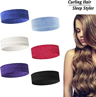 Sleep Styler Hair Curler Rollers Hairband,Flexible Curlers No Heat for Women Soft Curling Rollers for Natural Long/Medium Hair Heatless Rods Absorbent Overnight Wave Formers 6 Pack