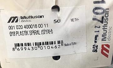 Mutlusan / 18Q Plastik Spiral Siyah Boru / 001 020 400018 00 11